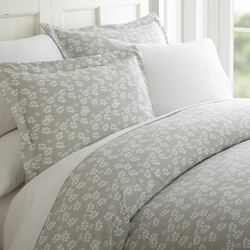 Case of [12] Queen Premium Wheatfield Pattern 3 Piece Duvet Cover Set - Gray
