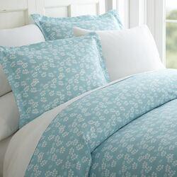 Case of [12] Queen Premium Wheatfield Pattern 3 Piece Duvet Cover Set - Pale Blue