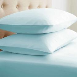Case of [24] Standard Double-Brushed Microfiber 2 Piece Pillow Case Set - Aqua