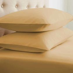 Case of [24] StandardDouble-Brushed Microfiber 2 Piece Pillow Case Set - Gold