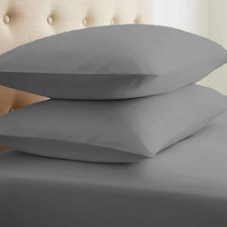 Case of [24] StandardDouble-Brushed Microfiber 2 Piece Pillow Case Set - Gray
