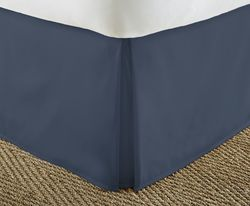 Case of [12] Soft Essentials Premium Pleated Bed Skirt Dust Ruffle - Navy - Twin XL