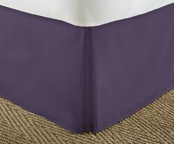 Case of [12] Soft Essentials Premium Pleated Bed Skirt Dust Ruffle - Purple - Twin XL