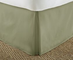 Case of [12] Soft Essentials Premium Pleated Bed Skirt Dust Ruffle - Sage - Twin