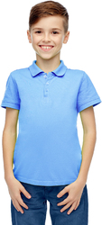 Case of [36] Boys Light Blue Short Sleeve Polo Shirt - Size 5