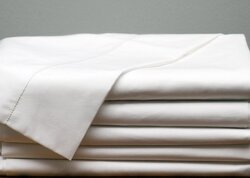 "Case of [60] Standard White Pillowcase T-130 - 42"" x 34"""