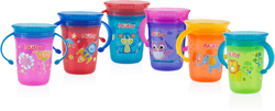 Case of [12] Nuby? No-Spill 2-Handle 360 Printed Wonder Cup