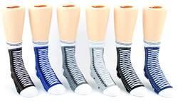 Case of [24] Toddler's Crew Socks - Basic Sneaker Print - Size 2-4