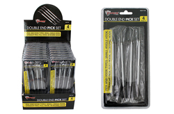 Case of [18] 4 Piece Double Ended Pick Set
