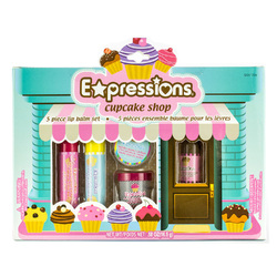 Case of [48] Expressions Cupcake Shop Lip Balm Box - 5 Piece