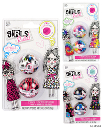 Case of [48] Girls' Rule! Flavored Lip Balm Set - 2 Piece