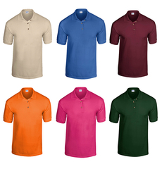Case of [12] Gildan Irregular Polo Shirts - Assorted - Large