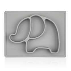 Case of [18] Nuby Sure Grip Silicone Placemats Elephant - Gray