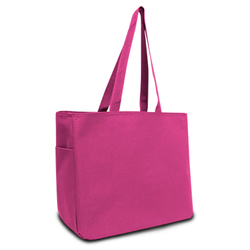 Category: Dropship Travel & Bags, SKU #2289109, Title: Case of [48] Must Have 600D Tote - Hot Pink