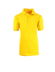 Case of [36] Boys Gold School Uniform Polo Shirt - Size 6