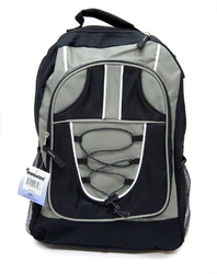 """Case of [12] 18"""" Classic Bungee Backpack - Black"""