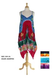 Case of [12] Tie Dye Handkerchief Hem Dress