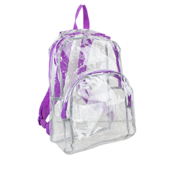 "Case of [12] 17"" Eastsport Basic Clear Backpack - Grape"