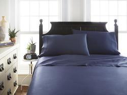 Case of [12] FullPremium Bamboo 4 Piece Luxury Bed Sheet Set - Navy
