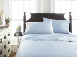 Case of [12] Soft Essentials Premium Bamboo 3 Piece Luxury Bed Sheet Set(Twin - Light Blue)