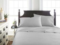 Case of [12] Soft Essentials Premium Bamboo 3 Piece Luxury Bed Sheet Set(Twin - Light Gray)