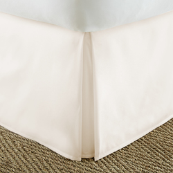 Case of [12] Twin Premium Pleated Bed Skirt Dust Ruffle - Ivory