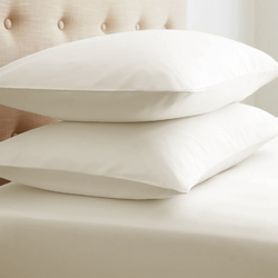 Case of [12] Soft Essentials Double-Brushed Microfiber 2 Piece Pillow Case Set - Ivory - King