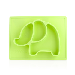 Case of [18] Nuby Sure Grip Silicone Placemats Elephant - Green