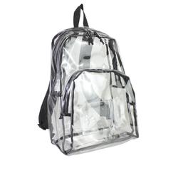 """Case of [12] 17"""" Eastsport Basic Clear Backpack - Black"""