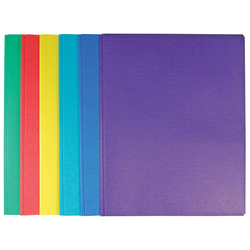 """Case of [100] Paper 2 Pocket Portfolio with Tangs - Assorted Colors - 11.5"""" X 9.4"""""""