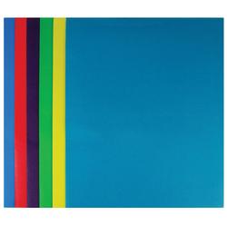 "Case of [100] Paper 2 Pocket Portfolio - Assorted Colors - 11.5"" X 9.375"""