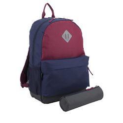 """Case of [24] 18"""" Eastsport Premium Backpack with Pencil Case - Red/Navy"""