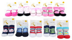 Case of [120] Baby Boy & Girl Assorted Graphic Socks - Sizes 0-12M & 12-24M