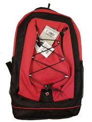 """Case of [24] 18"""" Classic Bungee Backpacks - Red"""