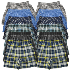 Case of [72] Vigaro Men's Cotton Blend Boxer Shorts