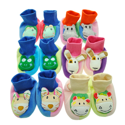 Case of [36] Baby Non Skid Slipper Socks with 3D Applique - 0-12 Months