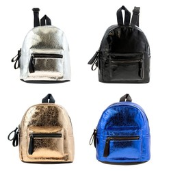 "Case of [24] 10"" Classic Mini Foil Backpack - 4 Assorted Colors"