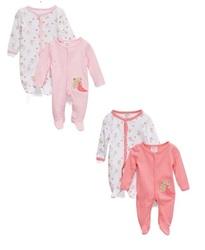 Case of [24] Preemie Girls 2-Pack Cotton Sleep N Play - Bear