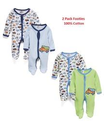 Case of [24] Preemie Boys' 2 Pack Cotton Sleep N Play - Cars