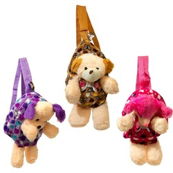 Case of [24] Kids Animal Plush Backpack in 3 Assorted Styles