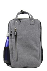 "Case of [24] 17"" Premium Sleek Computer Backpack - Grey"