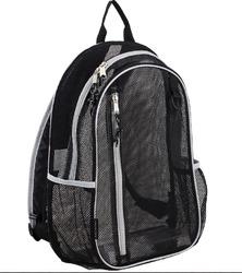 "Case of [12] 17"" Eastsport Classic Metro Mesh Backpack - Black"