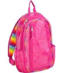 "Case of [12] 17"" Eastsport Classic Metro Mesh Backpack - Pink/Rainbow"