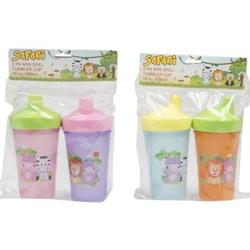 Case of [72] Assorted Non Spill Tumbler Baby Cup - 2 Pack