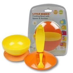 Case of [72] Little Mimos Toddler Feeding Suction Bowl with Spoon