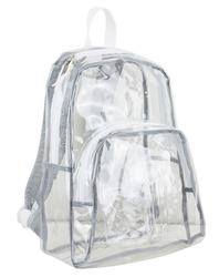 "Case of [12] 17"" Eastsport Basic Clear Backpack - White"