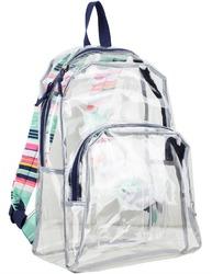 "Case of [12] 17"" Eastsport Basic Clear Printed Strap Backpack - Navy"