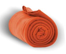 """Case of [24] Heavy Weight Fleece Blanket Throw - 50"""" x 60""""- Orange"""