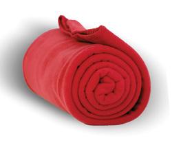 """Case of [24] Heavy Weight Fleece Blanket Throw - 50"""" x 60""""-Red"""