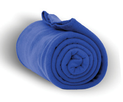 "Case of [24] Heavy Weight Fleece Blanket Throw - 50"" x 60""-Royal"